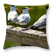 Yackety Yackety Throw Pillow