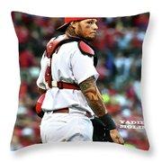 Yadier Molina, St. Louis Cardinals Throw Pillow