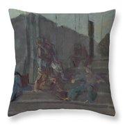 Yakovlev, Alexander 1887-1938 L Escalier, Capri, Nuit Throw Pillow