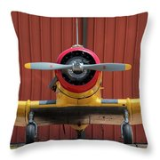 Yale And Hangar - 2018 Christopher Buff, Www.aviationbuff.com Throw Pillow