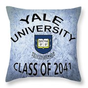 Yale University Class Of 2041 Throw Pillow