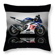 Yamaha Rossi Rep Throw Pillow