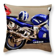 Yamaha Yzf-r6 Motorcycle Throw Pillow