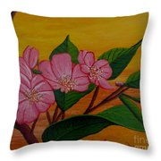 Yamazakura Or Cherry Blossom Throw Pillow