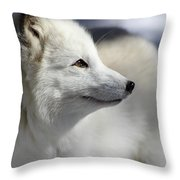 Yana The Fox Throw Pillow