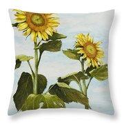 Yana's Sunflowers Throw Pillow