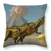 Yangchuanosaurus Dinosaurs Throw Pillow