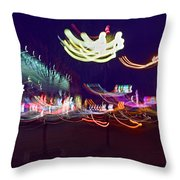 Yangshuo Trees By Night Throw Pillow