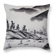 Yangze River Throw Pillow