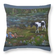 Yankee And The Rebel Throw Pillow