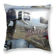 Yankee Lady Nose Art Throw Pillow