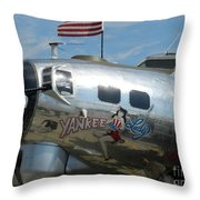 Yankee Lady Throw Pillow