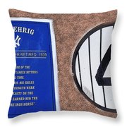 Yankee Legends Number 4 Throw Pillow