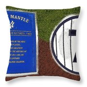 Yankee Legends Number 7 Throw Pillow