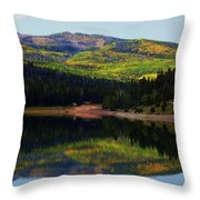 Yankee Meadows Lake Throw Pillow