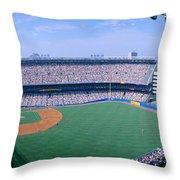Yankee Stadium Ny Yankees V. Tampa Throw Pillow