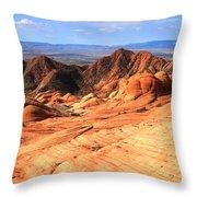 Yant Flat Candy Cliffs Panorama Throw Pillow