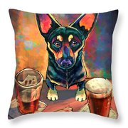Yappy Hour Throw Pillow