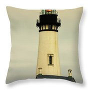 Yaquina Head Lighthouse - Newport Or Throw Pillow