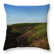 Yaquina Head Lighthouse Throw Pillow