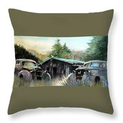 Yard Mates Throw Pillow