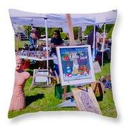 Yard Sale Day Throw Pillow