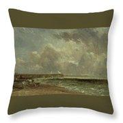 Yarmouth Pier Throw Pillow