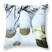Yarn In The Snow Throw Pillow