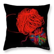 Yarn Leftovers Throw Pillow