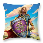 Yarrow - Protective Shield Throw Pillow