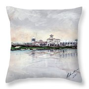 Yas Links Emirates Invitational 2011 Throw Pillow For Sale