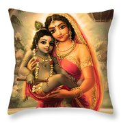 Yashoda And  Krishna 4 Throw Pillow