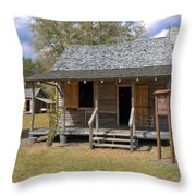 Yates Homestead Built In 1893 On Taylor Creek In Central Florida Throw Pillow
