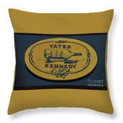 Yates Kennedy Sign Provincetown Throw Pillow