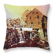 Yates Mill Park Throw Pillow