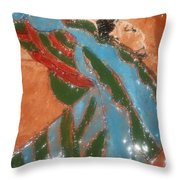 Yawn And Stretch - Tile Throw Pillow