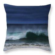 Yawning Wave Throw Pillow