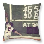 Yaz And The Green Monster Throw Pillow