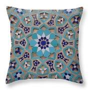 Yazd - Blue Mosaic Throw Pillow