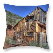 Ye Old Ford Building Throw Pillow