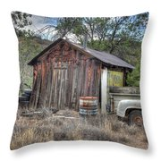 Ye Old Work Shed Throw Pillow