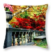 Ye Olde Garden Bench Throw Pillow
