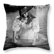 Ye Olde Lass Throw Pillow