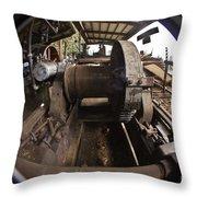 Ye Olde Logging Camp Throw Pillow
