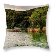 Ye Olde Swimmin Hole Throw Pillow