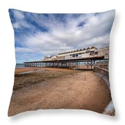 Ye Olde Victoria Pier Throw Pillow