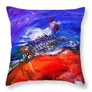 Year Of The Rooster Year Of The Fish Throw Pillow