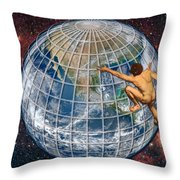 Yearning To Breathe Free Throw Pillow