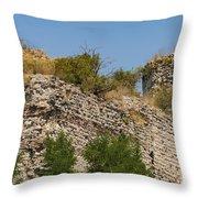 Yedikule Fortress Ruins Throw Pillow