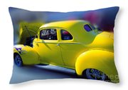 Yellow 1940 Hudson Throw Pillow